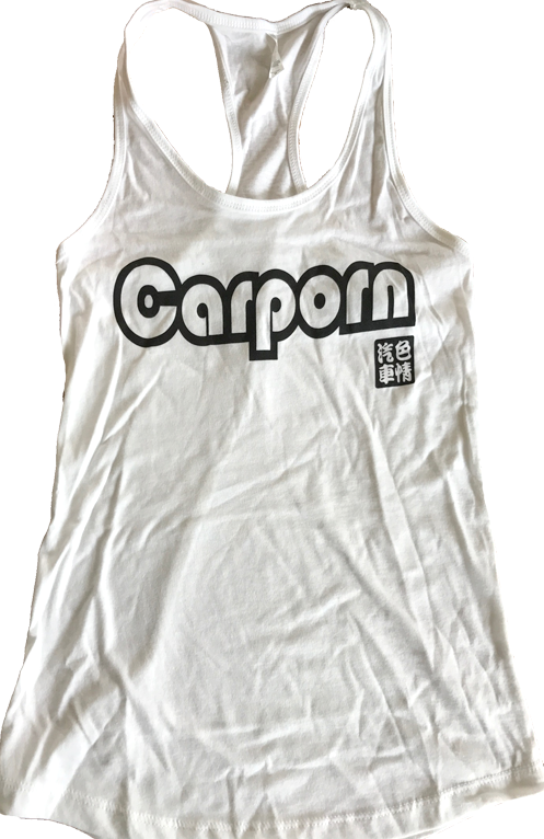 Ladies White Racer Back Tank Top